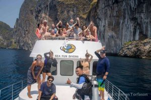 Diving Phuket - Hapy Divers on MV Sea Fun