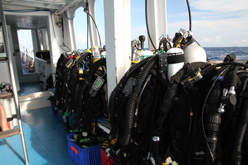 Technical Diving on MV Giamani