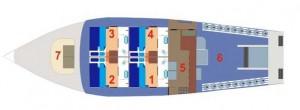 MV Giamani Layout - Main Deck